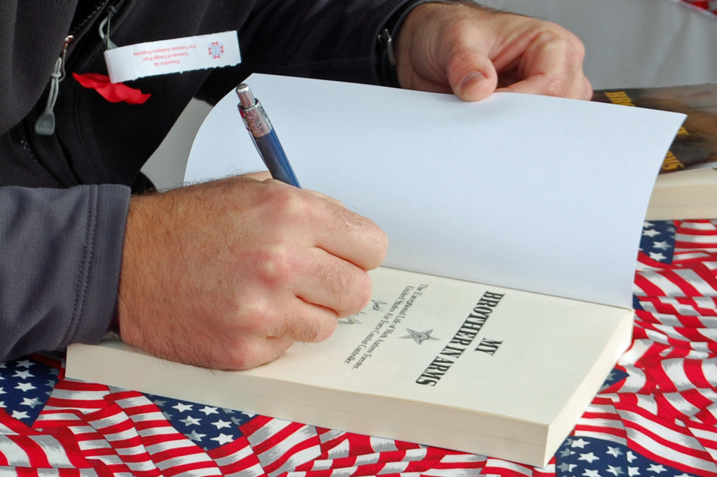 MyBrotherinArmsbooksigning-Thad Forester