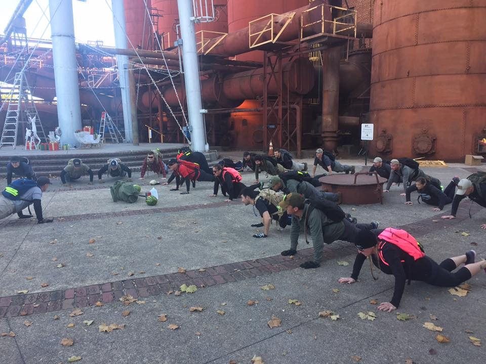 Sloss Furnace push-ups